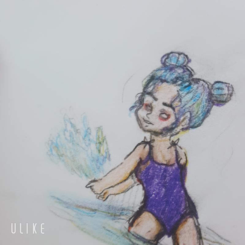 수영장 : 수영장 스케치판 ,sketchpan