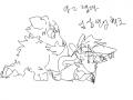 자야지 : 자야하는데 스케치판 ,sketchpan
