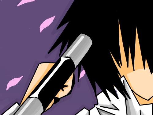 히바리 : 히바리와 벚꽃 스케치판 ,sketchpan