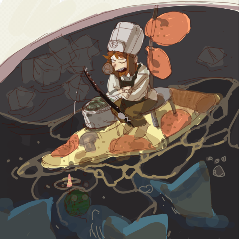 피자걸 : 피자걸 스케치판 ,sketchpan