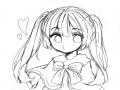 트윈테일파.. : 트윈테일파들은 주목!!!☆ 이그림을 색칠해 주세요!!(이어그리기☆) 원하시면 선도따셔도됩니다(반무테,무테oK!) 많이많이 해주세요!! 스케치판 ,sketchpan