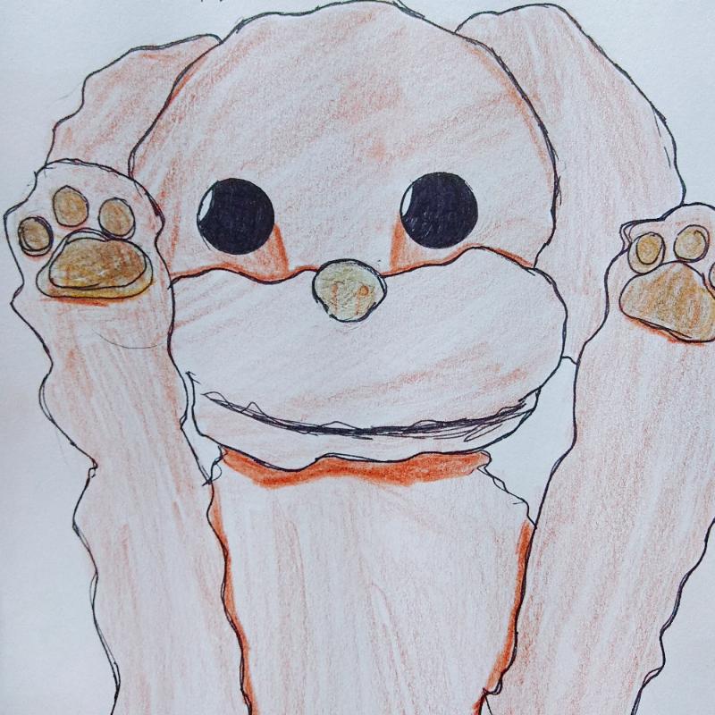 틱톡에 올.. : 틱톡에 올렸던 강아지그림 ㅎㅎ..망한그림이지만.. 스케치판 ,sketchpan