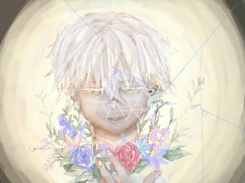 꽃x눈물 : 아픈건 구찮아 입속에 구내염도 아닌게 부어서 밥먹기 힘들어 ㅠ 스케치판 ,sketchpan