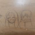 흐흨 책상.. : 흐흨 책상에 낙서... 요즘 자캐에 빠진듯싶네요 스케치판 ,sketchpan