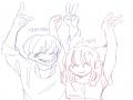 자캐들이 .. : 자캐들이 하는 행동 (트레이싱짤) 스케치판 ,sketchpan
