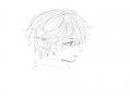 곱슬곱슬 .. : 곱슬곱슬 헝클어진 머리가 조와요오 스케치판,sketchpan