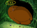 Domo Sleepy : Domo soo tired after eating a bunch of food. 스케치판 ,sketchpan