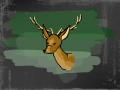 Deer in the dark : Deer making way.. 스케치판 ,sketchpan