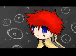 Gray,red,yellow,black, white,DARK!! : colorful thing... not that detailed, a dark boy evil...even though he's red.. , 스케치판,sketchpan,ABCLoco