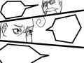 만화만들기 : 마지막칸에 알맞게 인물을 그린후 말풍선에 대화를 적어봅시다. 스케치판 ,sketchpan
