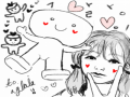 먹님이 그.. : 먹님이 그려주신 깜짝선물...고마워요♡♡♡ 스케치판,sketchpan