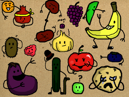 fruits vegetables and... : fruits vegetables 스케치판 ,sketchpan