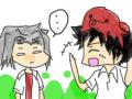 얌못고쿠...ㅋㅋ : 야마모토 머리에 문어보고 정색..(?)하는 고쿠데라 스케치판 ,sketchpan