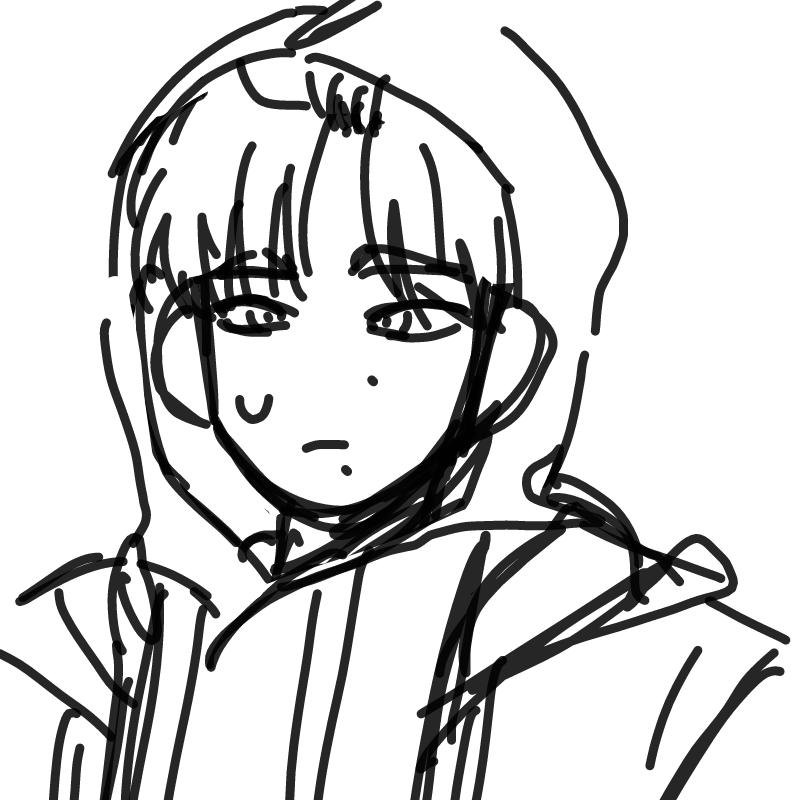 아까 후드.. : 아까 후드때문에 머리가 이런식으로 까졌는데 완벽히 남자같아보였어, ,, 스케치판 ,sketchpan