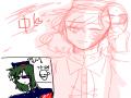중중- 피곤.. : 중중- 피곤해,..'▽`... 스케치판 ,sketchpan
