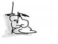배 한번 까.. : 배 한번 까고잤더니 토나오고 설사나오고 난리임...너무 아파서 식은땀나요... 스케치판 ,sketchpan