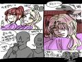 (보너스) .. : (보너스) 빨강: 난 왜 애인이 안생길까... ( 한숨 )  노랑: ... 글쎄요? ㅎㅎ~ ( 빨강이를 향해  꽃받침하며 싱글벙글 웃기만 해... ) 스케치판,sketchpan