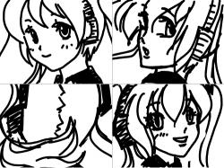 미쿠 : 빙그르르르 , 스케치판,sketchpan,천년백작