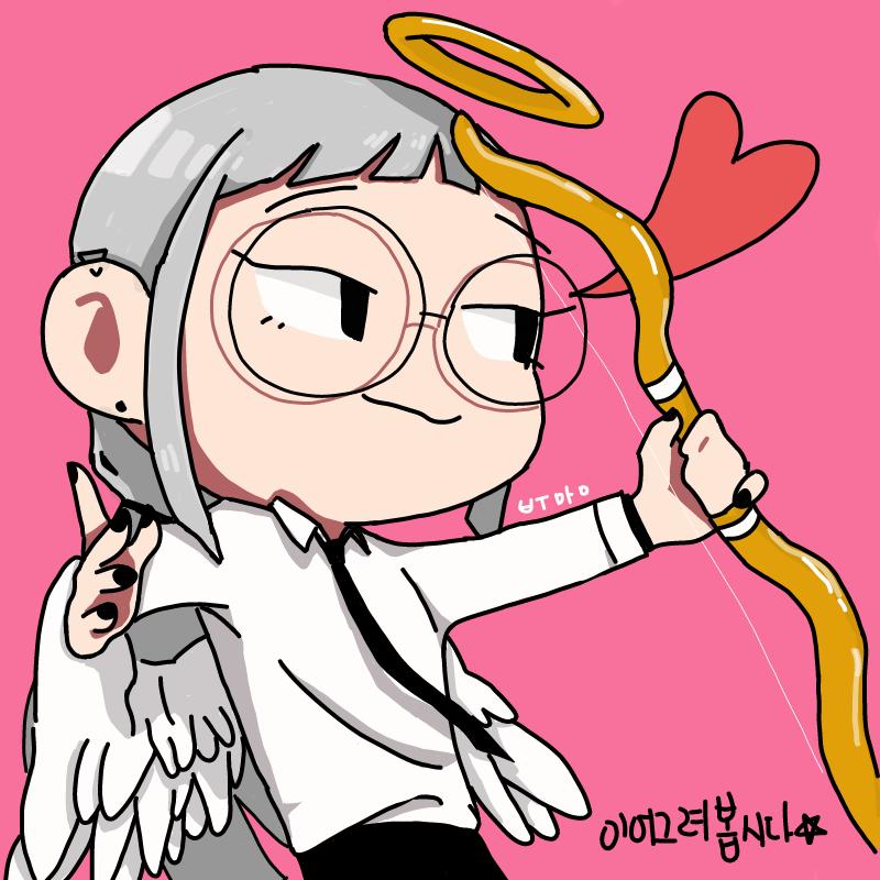 악마 아니.. : 악마 아니고 천사 부♡♡ 스케치판 ,sketchpan