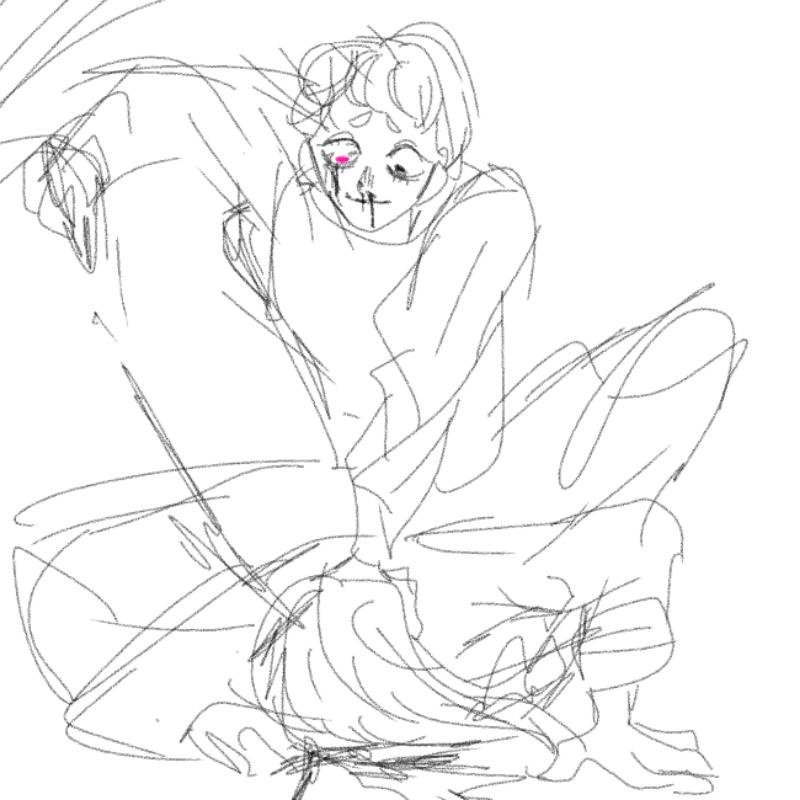 자캐끼리 .. : 자캐끼리 싸움붙이면 키작은얘가이김 스케치판 ,sketchpan