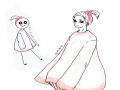 이어그리기.. : 이어그리기-(귀엽게그리고싶었는데;;) 스케치판,sketchpan