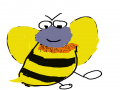 꿀벌 : 꿀벌 스케치판 ,sketchpan
