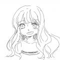 그냥 생각.. : 그냥 생각나는대로 그린 소녀 스케치판 ,sketchpan