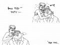 백호와 안감독 : 안감독괴롭히는 백호 스케치판 ,sketchpan
