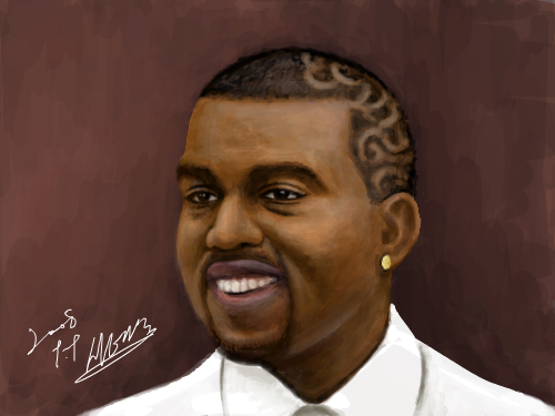 Kanye West) : 카니예웨스트 대단한 넘 스케치판 ,sketchpan