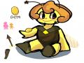 스유자캐 .. : 스유자캐 앰버 모티브는 호박벌 스케치판 ,sketchpan