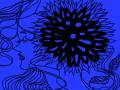 여인. : 파랑색으로물든 스케치판 ,sketchpan