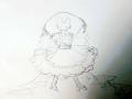 채찍든토.. : 채찍든토끼 스케치판 ,sketchpan