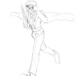 음침또라이.. : 음침또라이경찰관 , 스케치판,sketchpan,나♥비