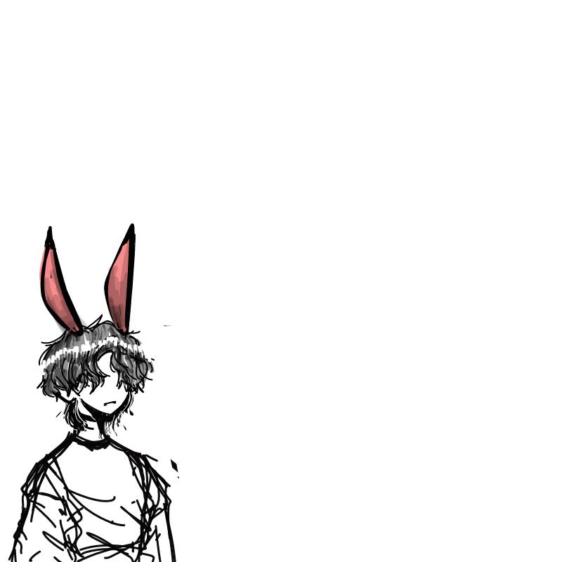 누가해줄까.. : 누가해줄까싶네요.... 옷은아무거나입히셔도됩니다..토끼귀랑가린긴머리만살려주시면되요...마치옷걸이처럼생각해주세요... 스케치판 ,sketchpan