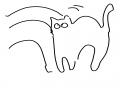 나 누워잇.. : 나 누워잇는대 고양이가 와서 자꾸 부비부비 해 너무 귀여워서 뒤질뻔함 어쩌지 스케치판,sketchpan