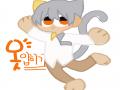 주황색 눈.. : 주황색 눈이길래 은금이로! ^^ 스케치판 ,sketchpan
