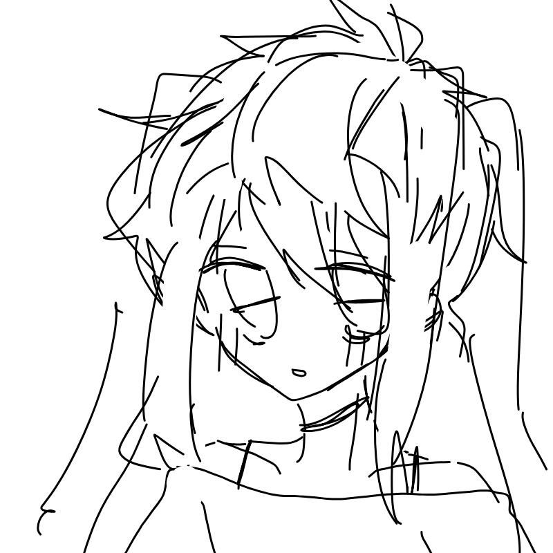 머리카락 .. : 머리카락 어케그려 스케치판 ,sketchpan