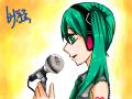 하츠네미쿠 : 딱히설명헐것도없내요 그냥 노래부르는? 미쿠입니다^^ 스케치판 ,sketchpan