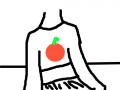 오렌지 티를 입은 여자 : 오렌지 티를 입은 여자입니닷!! 스케치판 ,sketchpan
