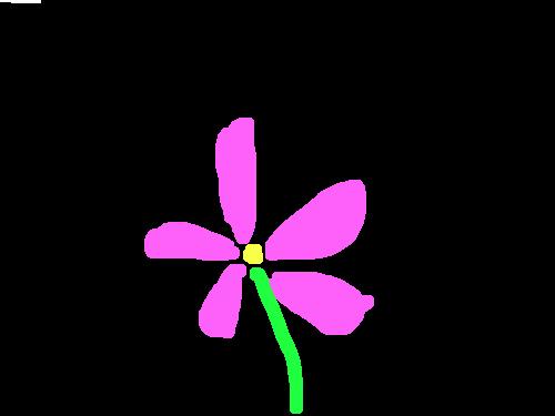 꽃잎 : 바람이 불면서 꽃잎이 떨어져 나가는 모습. 스케치판 ,sketchpan