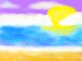 바닷가 : 바닷가 스케치판 ,sketchpan