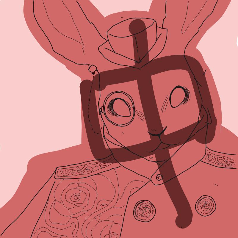 토끼 신사 : 토끼 신사 스케치판 ,sketchpan