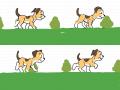 강아지 걷기 : 걸어가는 강아지 스케치판 ,sketchpan