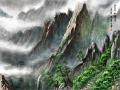 산수화 : 금강산 풍경입니다 스케치판 ,sketchpan