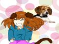 강아지 인.. : 강아지 인간화♡ 스케치판 ,sketchpan