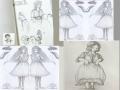 HB심에게 .. : HB심에게 마음이 동하여 이번주에 그렸던 그림들. (사진보정에서 대칭기능을 써봤는데 둘 중 뭐가 더 나은지 알수없어서 둘 다 붙이기. 하나하나 크게 올릴려다  우선 전체를 한꺼번에. 혹시, 크게 보고싶은 게 있나요? 스케치판,sketchpan