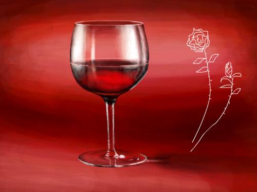 와인 : 유리질감 표현... 스케치판 ,sketchpan