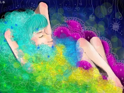 단잠 : 전배경을어둡게밖에할줄몰라슬프다는ㅠ 손 아픕니다ㅠㅠ 광마와의 광란의 1시간 30분;; 스케치판 ,sketchpan