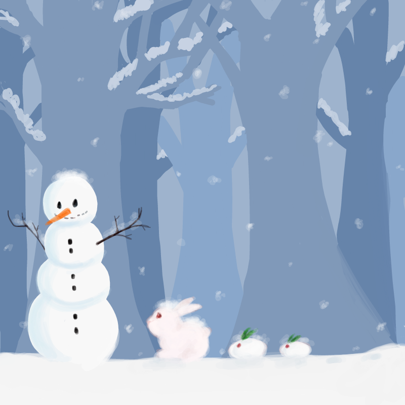 토끼와 눈.. : 토끼와 눈토끼.. 눈토끼 넘 기여움 스케치판 ,sketchpan