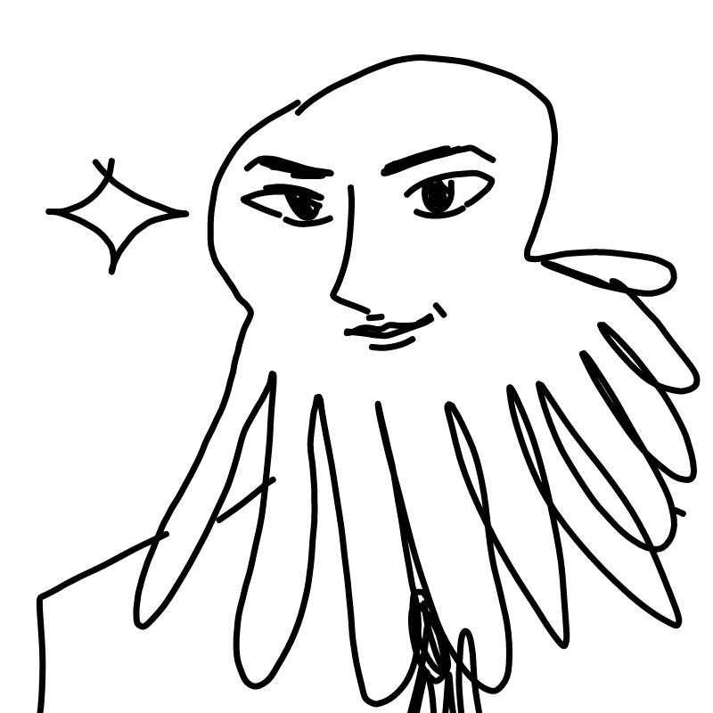 문어 : 문어 스케치판 ,sketchpan